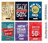 modern new year sale banner set ... | Shutterstock .eps vector #549554461