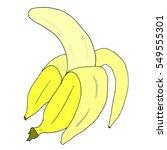 banana. vector banana. | Shutterstock .eps vector #549555301