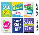 modern sale banner set ... | Shutterstock .eps vector #549557077