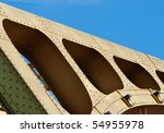 old style gold painted steel... | Shutterstock . vector #54955978