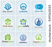 real estate and home logo... | Shutterstock .eps vector #549563035