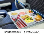food served on board of economy ... | Shutterstock . vector #549570664