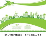 ecology connection  concept... | Shutterstock .eps vector #549581755
