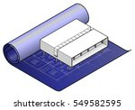 a white model of a modern house ... | Shutterstock .eps vector #549582595
