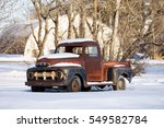 Rusted Vintage 1950s Truck In A ...
