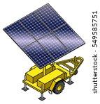 a mobile solar power plant.... | Shutterstock .eps vector #549585751