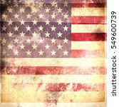 grunge usa flag | Shutterstock . vector #549600739