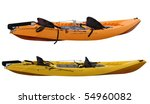 Set Of Two Plastic Kayaks...