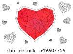 light red heart isolated on... | Shutterstock .eps vector #549607759