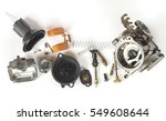 old carburetor of motorcycle... | Shutterstock . vector #549608644