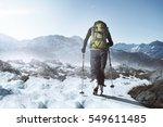 Hiking At Winter Mountains