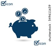 time is money piggy bank icon.... | Shutterstock .eps vector #549611659