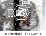 security safety bank card iot... | Shutterstock . vector #549612445