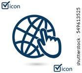 globe icon. flat design style... | Shutterstock .eps vector #549613525