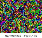 a detailed  colorful  and... | Shutterstock .eps vector #54961465