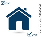vector home icon in flat design ...