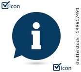 info speech bubble symbol. flat ...