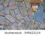 Beautiful Colorful Stone Wall...