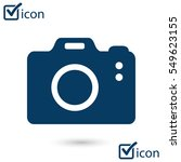 digital camera. flat design...
