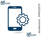 smart phone services icon....