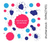 vector ink drops set.  | Shutterstock .eps vector #549627451