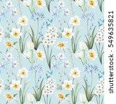watercolor botanical floral... | Shutterstock . vector #549635821