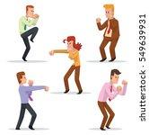 vector set of cartoon images of ... | Shutterstock .eps vector #549639931