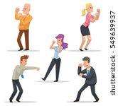 vector set of cartoon images of ... | Shutterstock .eps vector #549639937