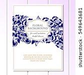 romantic invitation. wedding ...   Shutterstock .eps vector #549643681