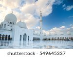 grand mosque in abu dhabi.... | Shutterstock . vector #549645337