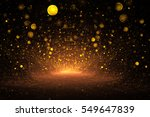 abstract golden drops on black... | Shutterstock . vector #549647839
