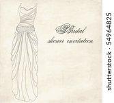 bridal shower illustration | Shutterstock .eps vector #54964825
