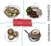 vietnamese menu colorful... | Shutterstock .eps vector #549648325