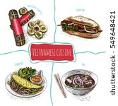 vietnamese menu colorful... | Shutterstock .eps vector #549648421