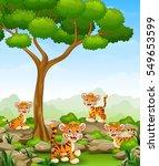 vector illustration of cartoon... | Shutterstock .eps vector #549653599
