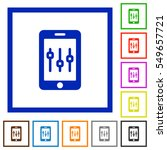 smartphone tweaking flat color... | Shutterstock .eps vector #549657721