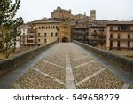 bridge in valderrobres  an old... | Shutterstock . vector #549658279