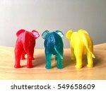 plastic elephants | Shutterstock . vector #549658609