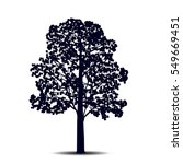 silhouette detached tree ... | Shutterstock .eps vector #549669451