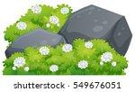 jasmine flowers on green bush... | Shutterstock .eps vector #549676051