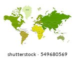 political map of the world.... | Shutterstock .eps vector #549680569