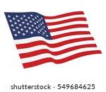 usa flag vector | Shutterstock .eps vector #549684625