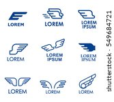 wings vector icons set. wing... | Shutterstock .eps vector #549684721