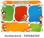 brochure backgrounds with... | Shutterstock . vector #549686569
