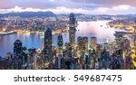 hong kong sunrise | Shutterstock . vector #549687475