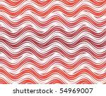 op art flowing stripes red white | Shutterstock . vector #54969007