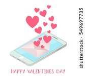 happy valentine's day  love on... | Shutterstock .eps vector #549697735