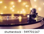 a vinyl record close up on a... | Shutterstock . vector #549701167