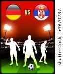 germany versus serbia on... | Shutterstock .eps vector #54970237