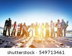 winter sports concept with... | Shutterstock . vector #549713461